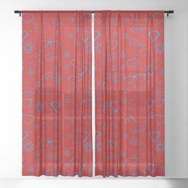 Supergirl/Kara's pattern - blue Sheer Curtain