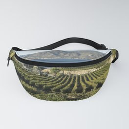 Okanagan Valley Winery Vineyard Landscape Fanny Pack