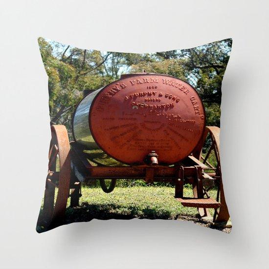 """Furphy's """"1920"""" water Cart Throw Pillow"""