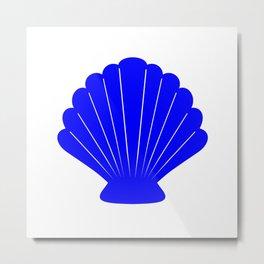 Seashell (Blue & White) Metal Print