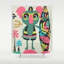 Koala surfer Shower Curtain