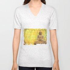 Buddha light yellow Unisex V-Neck