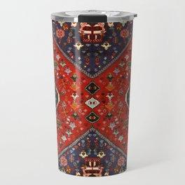 N65 - Colored Floral Traditional Boho Moroccan Style Artwork Travel Mug