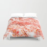 cherry Duvet Covers featuring Cherry Blossoms by 2sweet4words Designs
