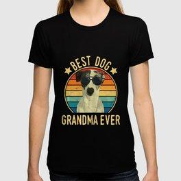 Womens Best Dog Grandma Ever Italian Greyhound Mother's Day T-Shirt T-shirt