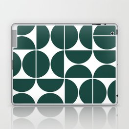 Mid Century Modern Geometric 04 Dark Green Laptop & iPad Skin