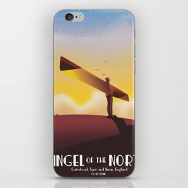 Angel of the North Travel poster. iPhone Skin
