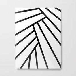Tropical Leaf Abstract Metal Print