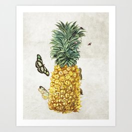 Pineapple #butterfly Art Print