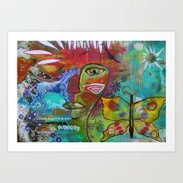 Medicine Warrior Art Print