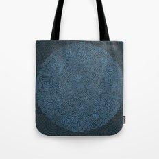 Primitive Blue Circle Tote Bag