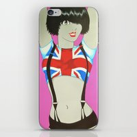 union jack iPhone & iPod Skins featuring Union Jack by Redpencil
