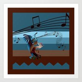 Southwest Kokopelli Music Art Print