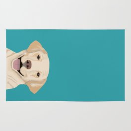 Golden Labrador Retriever modern minimal pet friendly dog person gift for labrador owner must have Rug