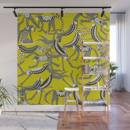 monkey chartreuse Wall Mural