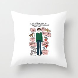 Seth Cohen, Perfection Throw Pillow