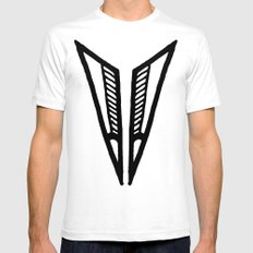 Triangle 2 SMALL Mens Fitted Tee White