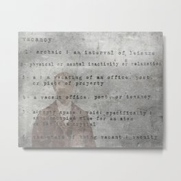 Definition  Metal Print