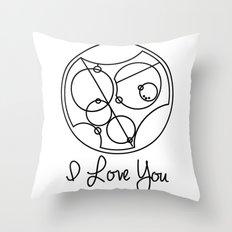 I Love you Gallifreyan Doctor Who Throw Pillow