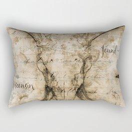 Skulled Oddity Closeup Rectangular Pillow