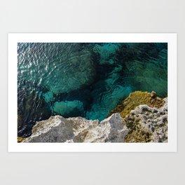Cyprus Sea III Art Print