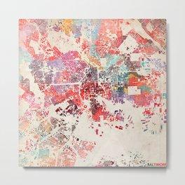 Baltimore map Metal Print