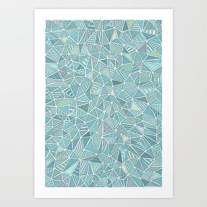 Pastel Diamond Art Print