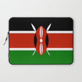 National flag of Kenya - Authentic version, to scale and color Laptop Sleeve