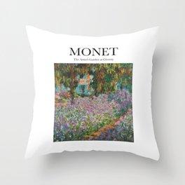 Monet - The Artist's Garden at Giverny Throw Pillow