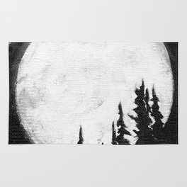 Full Moon & Trees Rug