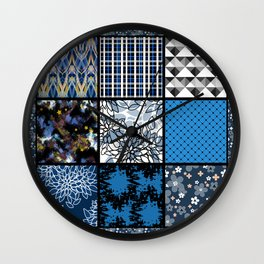 Favorite blanket and pillows . Patchwork 2 Wall Clock