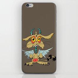 Evil Flying Feline Jackalope  iPhone Skin