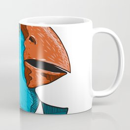 South Island Takahe in Business Suit Drawing Coffee Mug