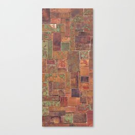Red Patina Patchwork Canvas Print