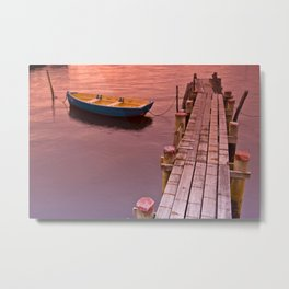 An Afternoon at the Jetty  Metal Print