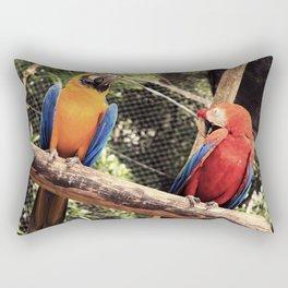 couple of macaws - casal de araras Rectangular Pillow