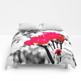 Hot Pink Flowers Pop Of Color Comforters