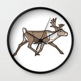 Geometric Reindeer / Caribou Wall Clock