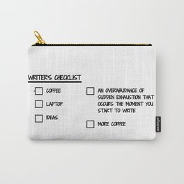 Writer's Checklist Carry-All Pouch