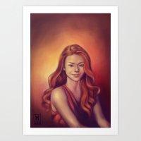 Amy's smile Art Print