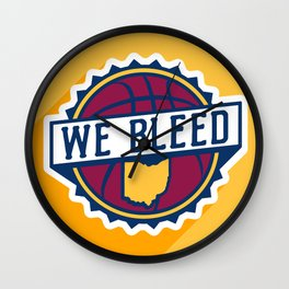 We Bleed Wine and Gold Wall Clock