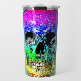 Skull disco rainbow Travel Mug