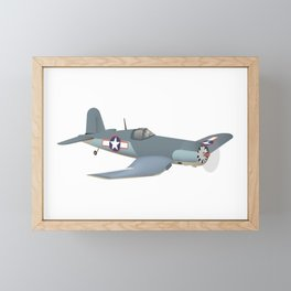 Corsair WWII Airplane Framed Mini Art Print