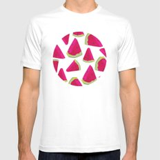 watermelon love MEDIUM Mens Fitted Tee White
