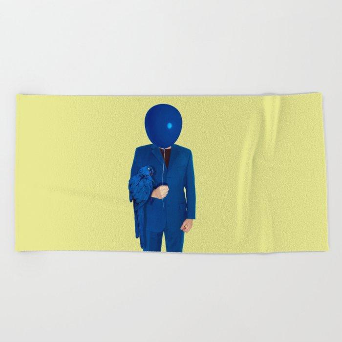 blue man Beach Towel