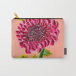Red chrysanthemum bloom Carry-All Pouch