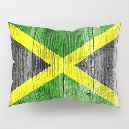 Jamaica Flag Grungy Distressed Board Pillow Sham