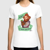 nori T-shirts featuring Nori at Your Service  by Hattie Hedgehog