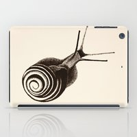 snail iPad Cases featuring  Snail. by Assiyam