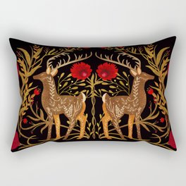 Two Stags Protecting The Dark Forest Gate Rectangular Pillow